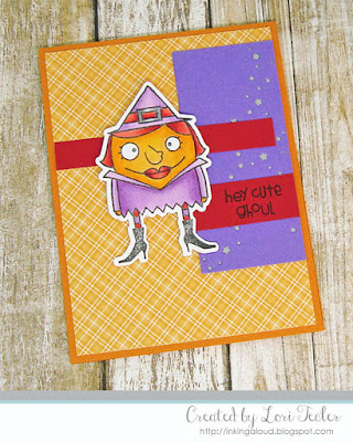 Hey Cute Ghoul card-designed by Lori Tecler/Inking Aloud-stamps from Paper Smooches