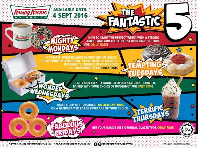 Krispy Kreme Doughnuts Malaysia RM5 Weekday Deals