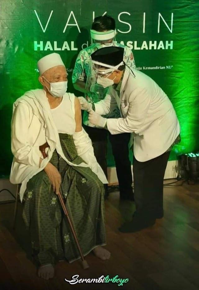 Bentuk Ikhtiyar Dhohir Pengurus Wilayah Nahdlatul Ulama (PWNU) Jawa Timur Menggelar Vaksinasi Covid Bersama di Harlah ke-98 NU