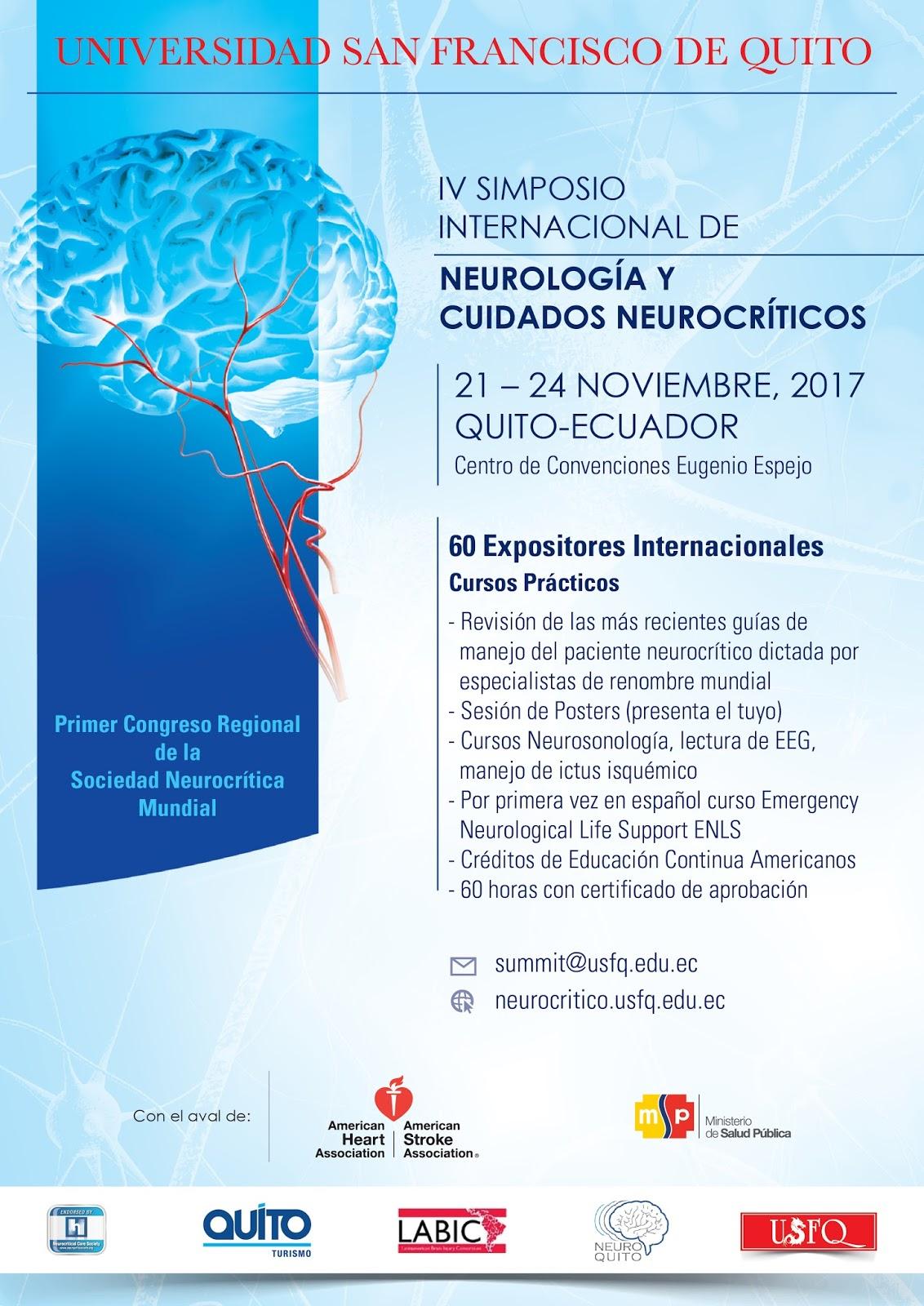 IV Simposio Internacional de Neurología y Cuidados Neurocríticos