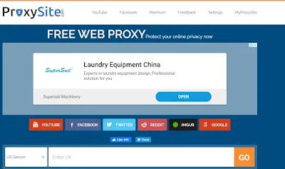 خادم البروكسي Proxy Site