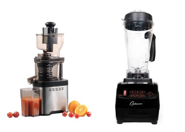 Evolve Slow Juicer and Optimum 9200a Blender
