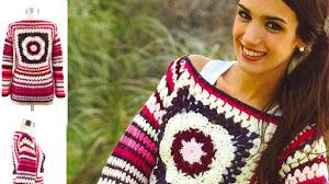 Suéter Retro Crochet / Paso a paso