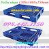 Pallet nhựa 1200x1000x150mm màu xanh dương giá rẻ call 0984423150 Huyền
