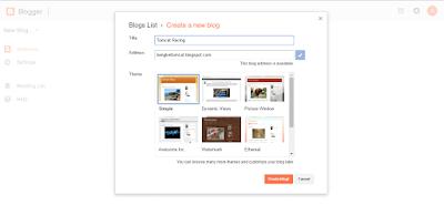 Membuat Judul dan Alamat Blog yang Tersedia