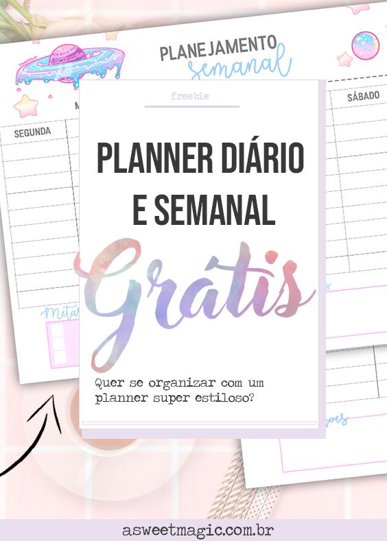 FREEBIE: Planner Semanal e Diário Grátis (estilo tumblr)