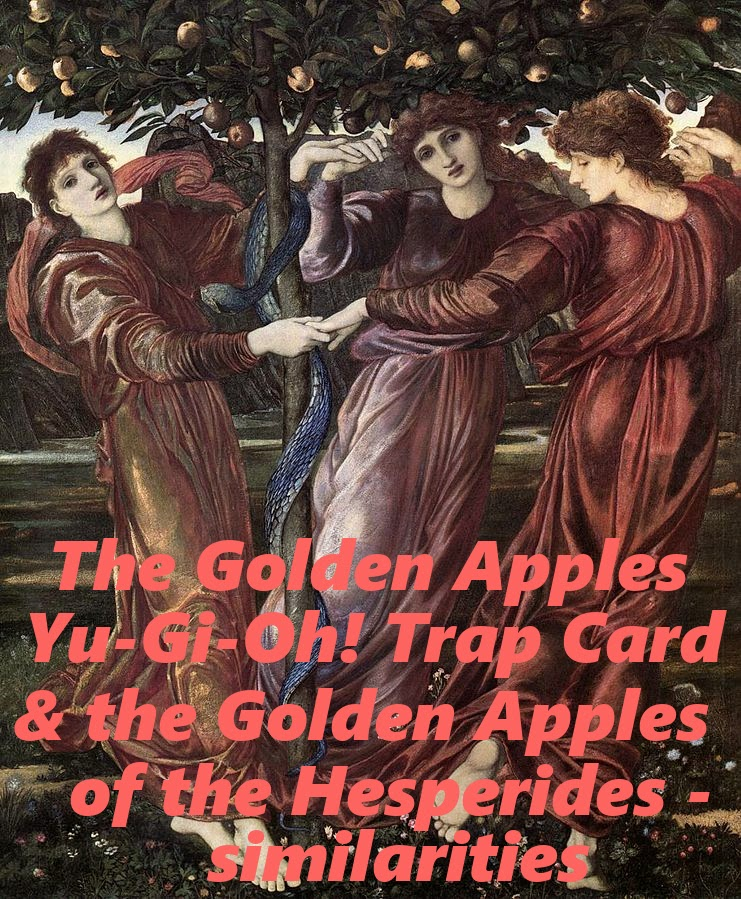 the golden apples, trap card, yu-gi-oh!, game, anime, golden apples of the hesperides, greek mythology