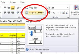Menyatukan Tulisan dari Beberapa Kolom Excel