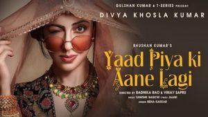 Yaad Piya Ki Aane Lagi Lyrics in English – Neha Kakkar