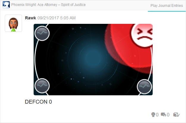 Phoenix Wright Ace Attorney Spirit of Justice Widget very angry