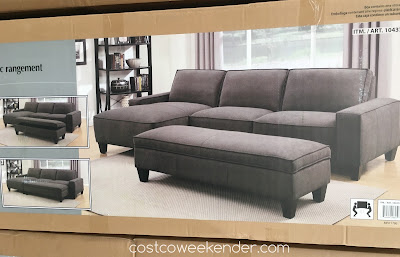 Costco 1043728 - Chaise Sofa with Storage Ottoman - perfect for any living room or family room