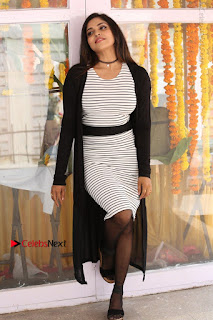 Telugu Actress Karunya Chowdary Stills in Black Dress at Soda Goli Soda Movie Opening  0155.JPG