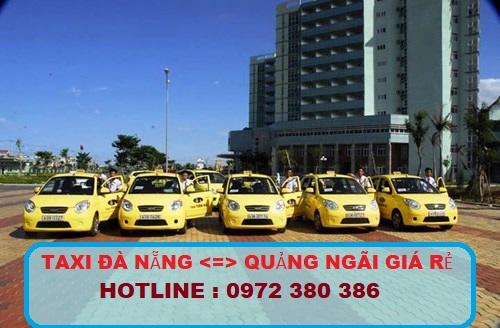 Taxi Đà Nẵng về Quảng Ngãi giá rẻ