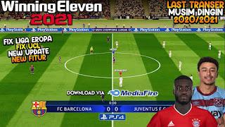 Download WINNING ELEVEN 2012 MOD 2021 New Update Winter Transfer