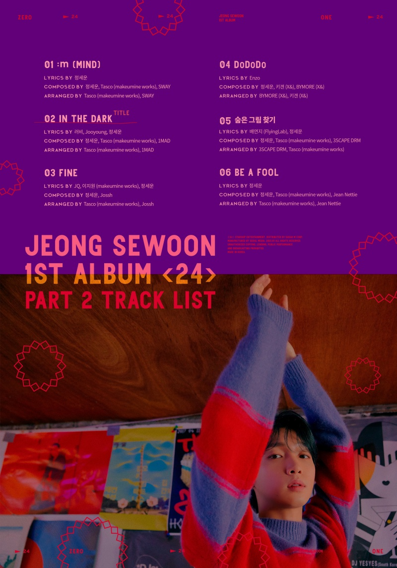 comeback jeong sewoon 24 part 2 tracklist