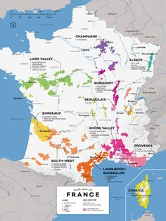Image Map Showing French Wine Locations