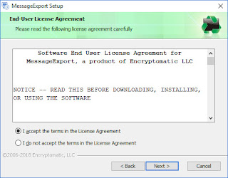 "Screen image displays ""Accept End User License Agreement."""