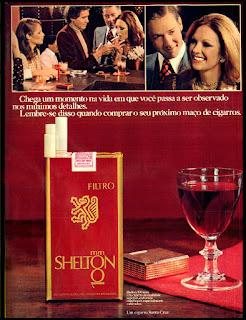 cigarros Shelton, Brazilian advertising cigarettes,  propaganda anos 70; história decada de 70; reclame anos 70; propaganda cigarros anos 70; Brazil in the 70s; Oswaldo Hernandez;