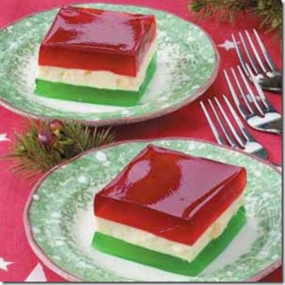 Peachtree Cooking: Christmas Ribbon Jello Salad