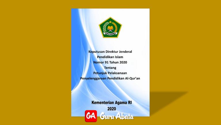 Petunjuk Teknis Penyelenggaraan Pendidikan Al Qur'an Tahun 2020