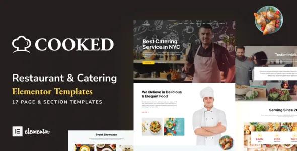 Best Catering & Restaurant Website Elementor Template Kit