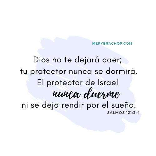 imagen salmo 121 proteccion buenas noches