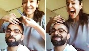 لاک ڈائون کی وجہ سے بھارتی کرکٹر ویرات کوہلی کی اپنی اہلہ  اداکارہ انوشکا شرما سے بال کٹوانے کی ویڈیو سوشل میڈیا پر وائرل