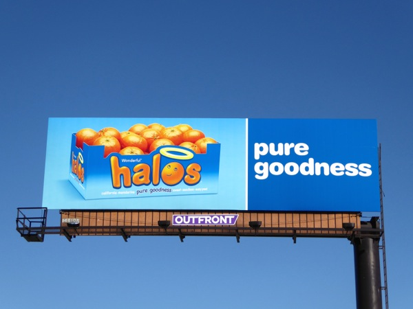 Halos Pure goodness billboard