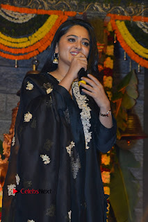 Actress Anushka Anushka Shetty Stills in Black Salwar Kameez at Om Namo Venkatesaya Audio Launch Event  0046.JPG