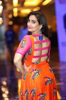 Hottest TV Anchor Manjusha Braless Hot Back Navel Queens