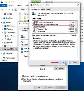 Cara Mudah Menghapus Windows Old Di Windows 10 100% Berhasil