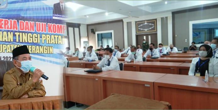 Puluhan Pejabat Eselon II Merangin Ikuti Uji Kompetensi