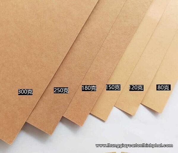 Cách định lượng giấy carton