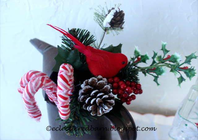 Eclectic Red Barn. Share NOW. #candycanes #christmasdecor #decor #eclecticredbarn