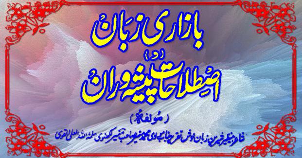 Bazari Zaban, Urdu Slangs proverbs Dictionary