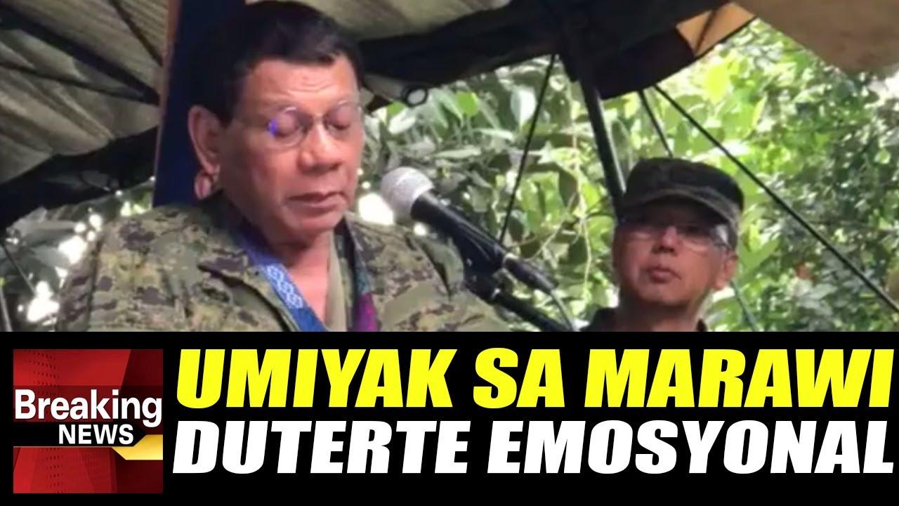 WATCH: Pres. Duterte Napaluha At Naging Emosyonal Sa Pagpunta Sa Marawi