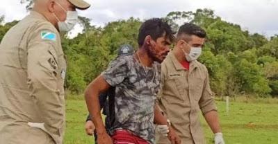 Violência: Homem é espancado a pauladas após ser confundido com serial killer Lázaro