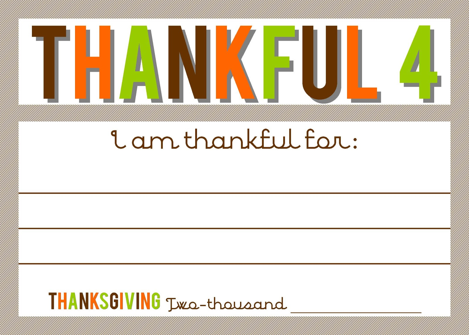 Thankful 4 Cards