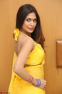 Nishigandha in Yellow backless Strapless Choli and Half Saree Spicy Pics 156.JPG
