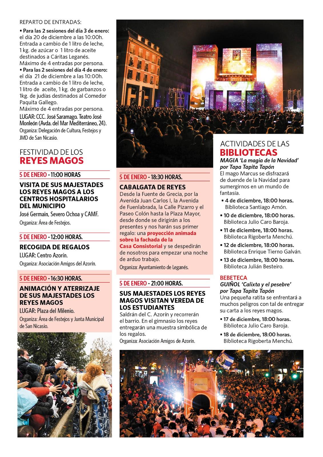 cb209e505e De esta forma, Leganés celebrará las fiestas de Navidad y Reyes con un  programa lleno de actividades culturales, solidarias e iniciativas de apoyo  al ...