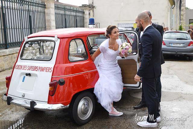 photo découverte des mariés