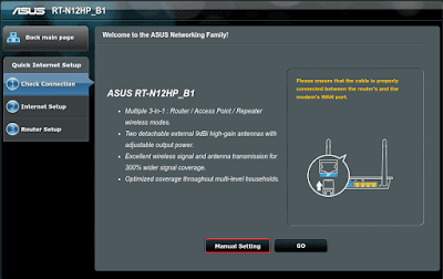 Tutorial Cara Setting Router ASUS RT-N12HP_B1 Sebagai Access Point