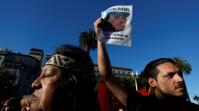 La Justicia de Argentina libera al prefecto acusado de asesinar al activista mapuche Rafael Nahuel