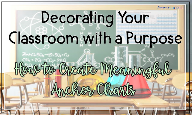 How to use anchor charts to decorate a secondary classroom