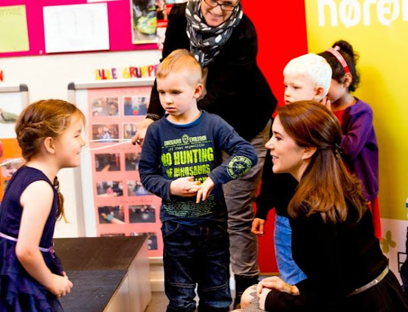 Crown Princess Mary at the Mary Foundation's project