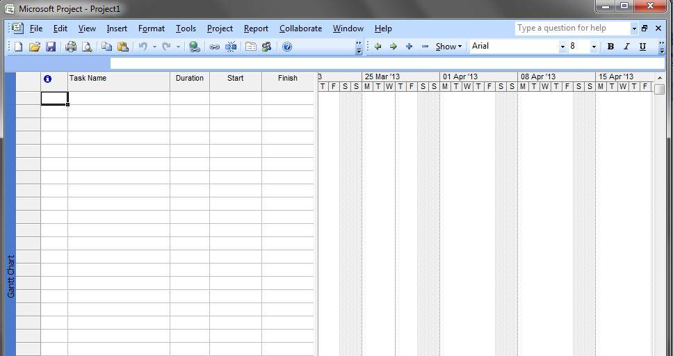 Nurfadillah nrf cara membuat gantt chart di microsoft project 2007 setelah itu isikan task name duration start date predesssesors jika ada pada kolom yang ada disebelah kiri secara otomatis gantt chart akan terbentuk ccuart Images