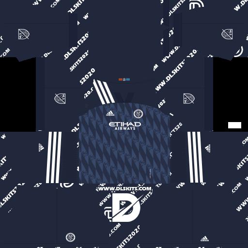 New York City Kits 2021-2022 Adidas -Kit Dream League Soccer 2019 (Away)
