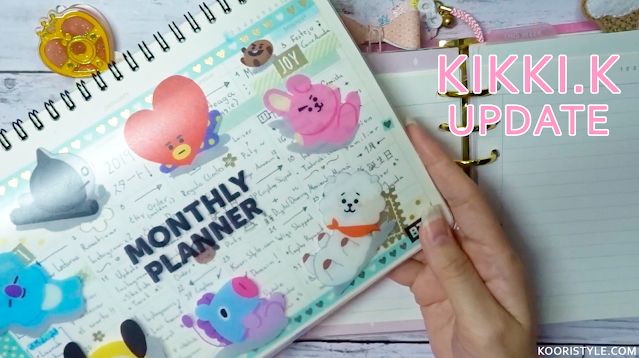 KooriStyle, KooriStyle, Planner, Kikki K, Ring, Setup, Decoration, Cute, Inserts, Monthly, Dividers, Decoración, Divisores, Stickers, Pegatinas, Calcomanias, Cute, Simple, Pink, BT21, Calendar, Moving, Mudando
