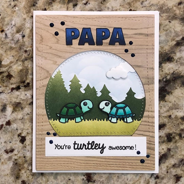 Sunny Studio Stamps: Turtley Awesome Father's Day Turtle Card by Kristin
