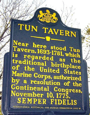 Tun Tavern Historical Marker in Philadelphia Pennsylvania